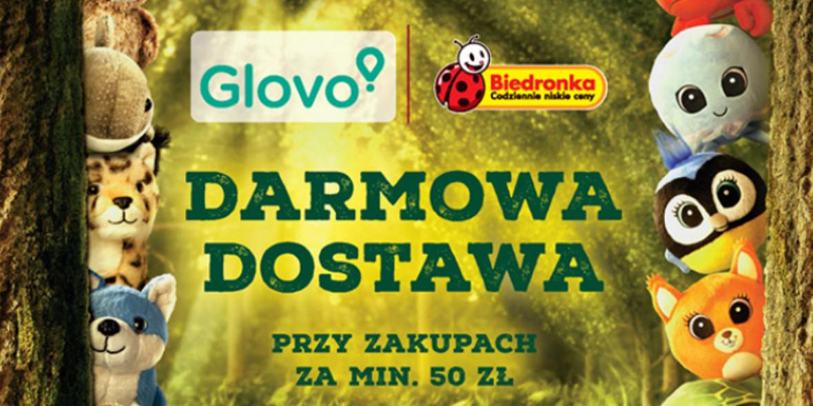 Biedronka:  Darmowa dostawa z Glovo 20.09.2021