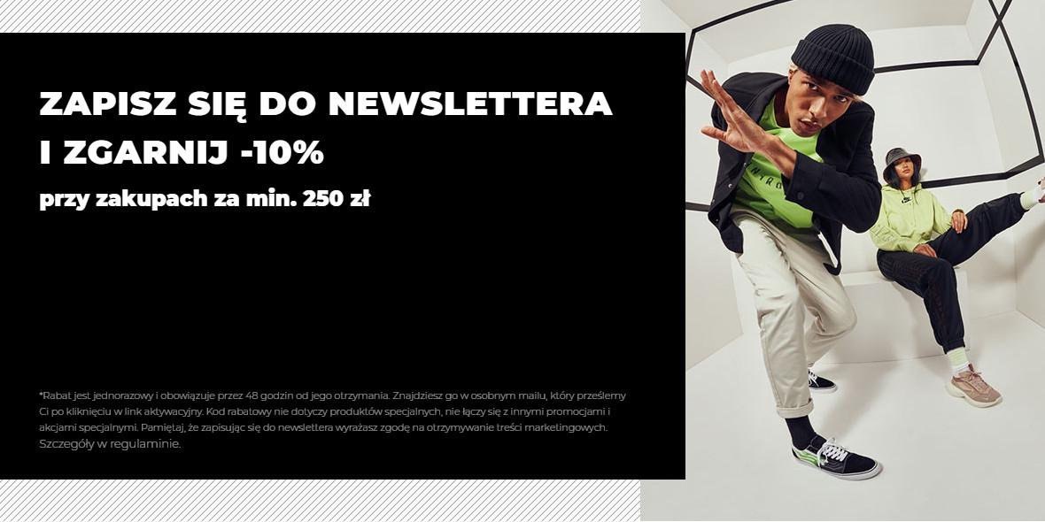 Sizeer:  -10% za zapisanie się do newslettera 17.05.2021