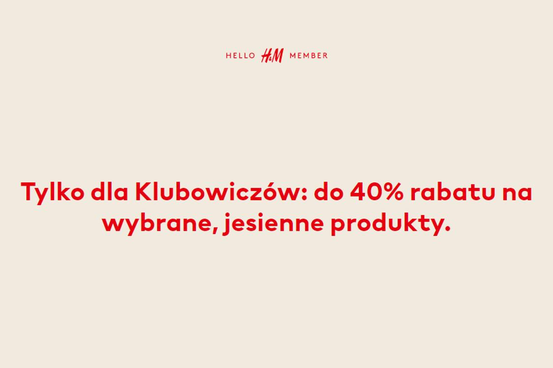: Do -40% na wybrane jesienne produkty
