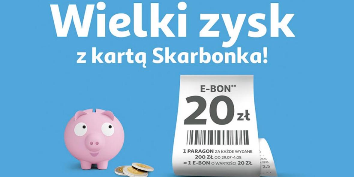 Auchan:  E-BON -20 zł na kolejne zakupy 29.07.2021