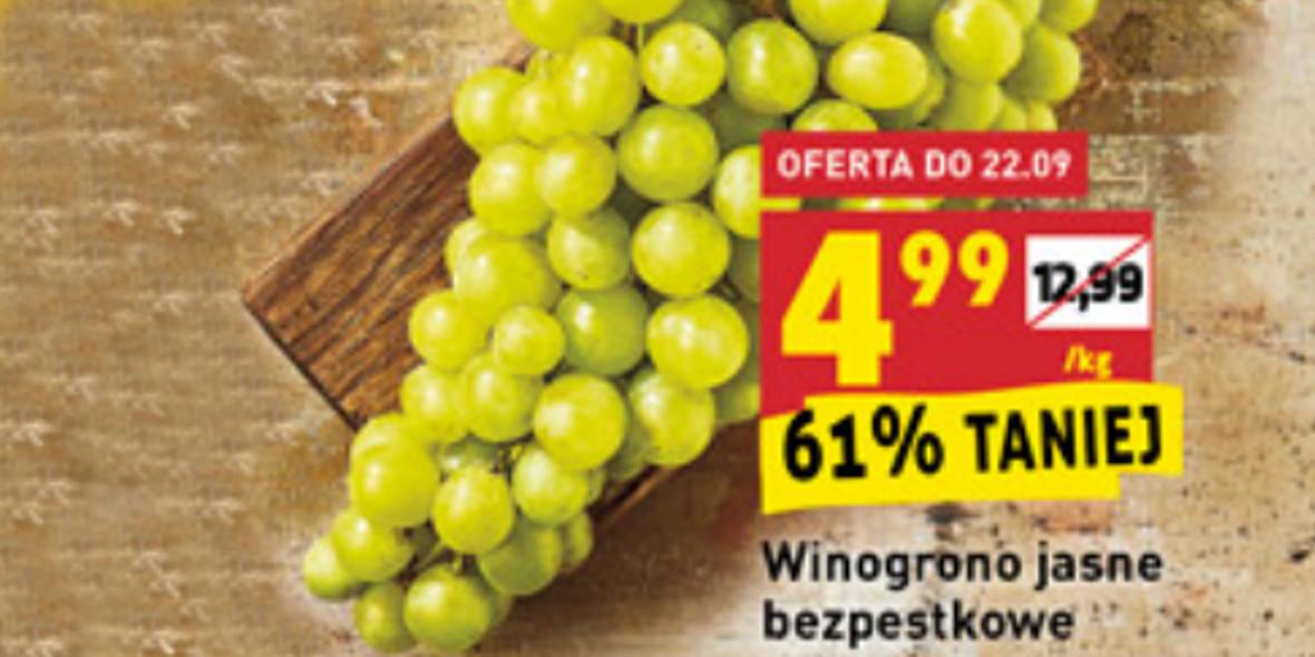Biedronka: -61% na winogrono jasne bezpestkowe 21.09.2021