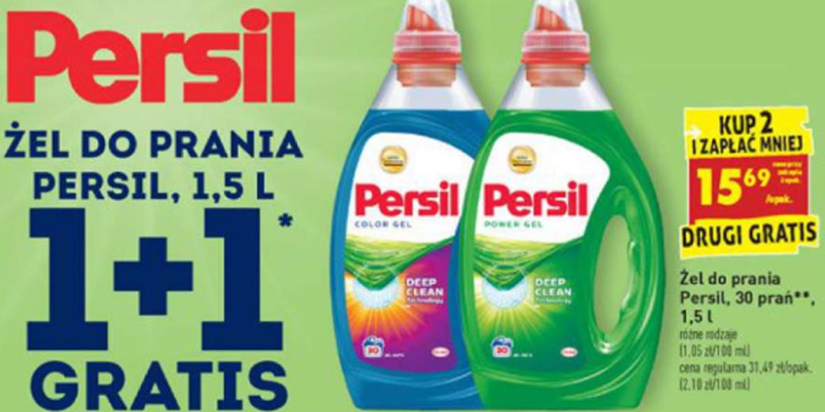 Biedronka: 1 + 1 żel do prania Persil 18.01.2021