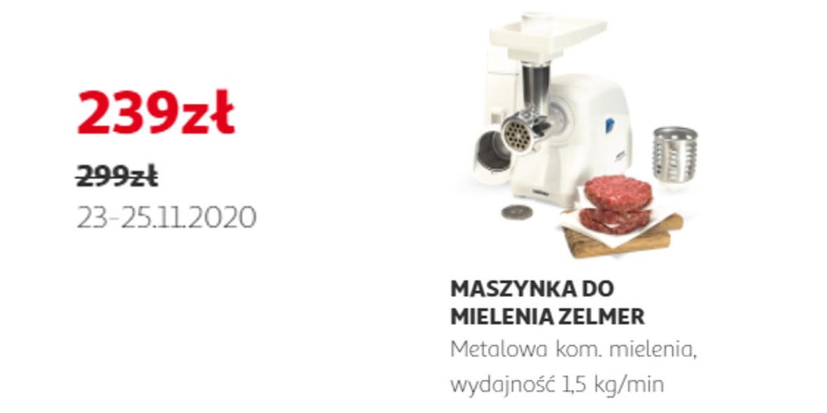 Auchan:  -60 zł za maszynkę do mielenia Zelmer 23.11.2020