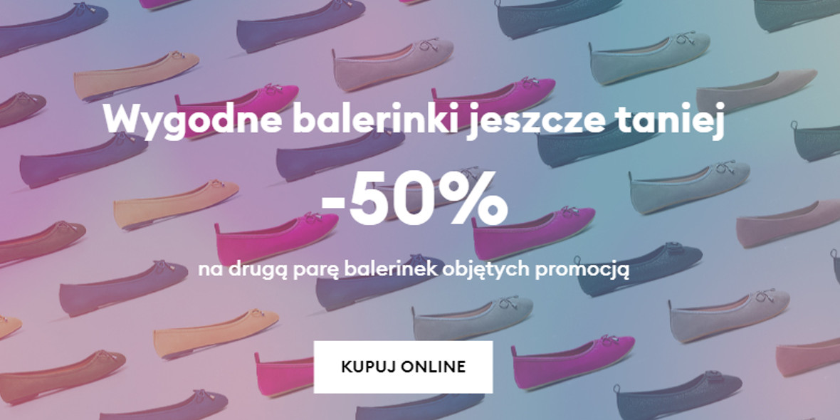 Sinsay: -50% na drugą parę balerinek