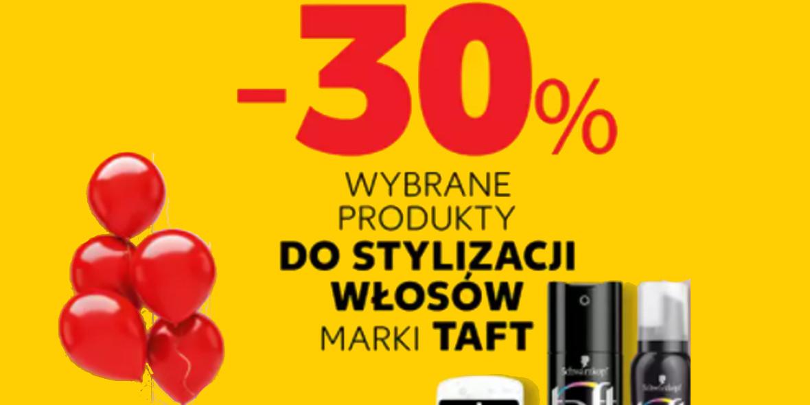 Kaufland: -30% na wybrane produkty do stylizacji włosów Taft 14.10.2021