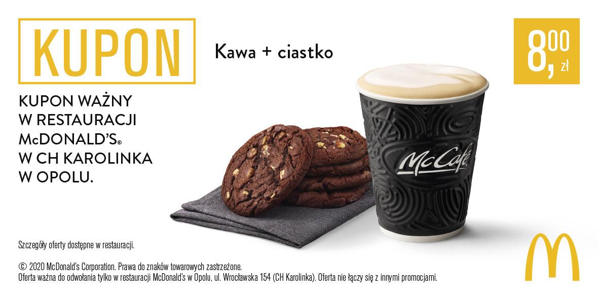 McDonald's: 8 zł za kawę + ciastko