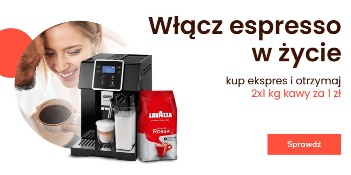 morele.net: 1 zł za kawę przy zakupie ekspresu 13.10.2021