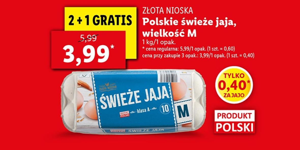 Lidl: 2 + 1 na polskie świeże jaja 25.10.2021