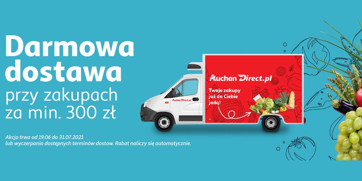 AuchanDirect: Darmowa dostawa przy zakupach za min. 300 zł
