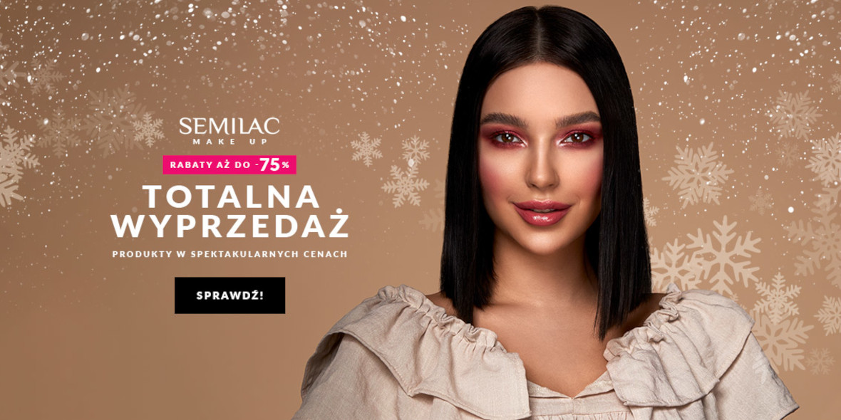 Semilac: Do -75% na make up 05.01.2021