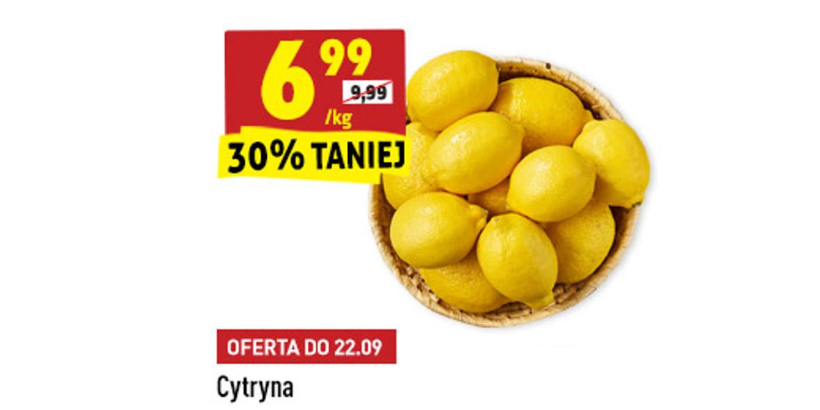 Biedronka: -30% na cytryny 21.09.2021