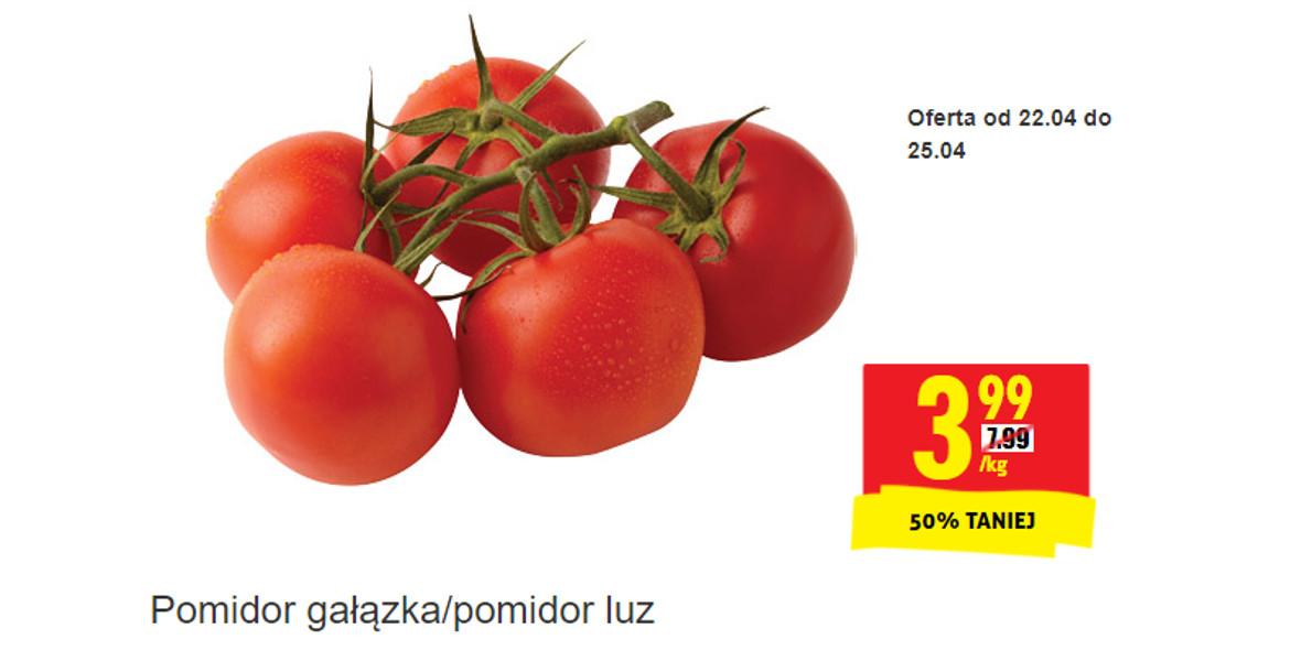 Biedronka: -50% na pomidor gałązka 22.04.2021