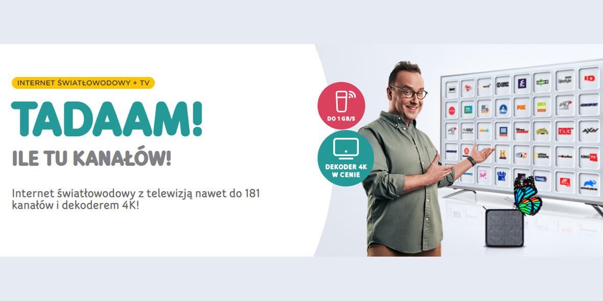 UPC: Od 89,99 zł  za internet  światłowodowy + TV