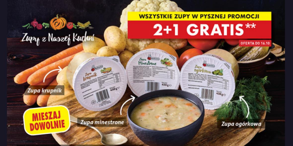 Biedronka:  2 + 1 na wszystkie zupy 15.10.2021