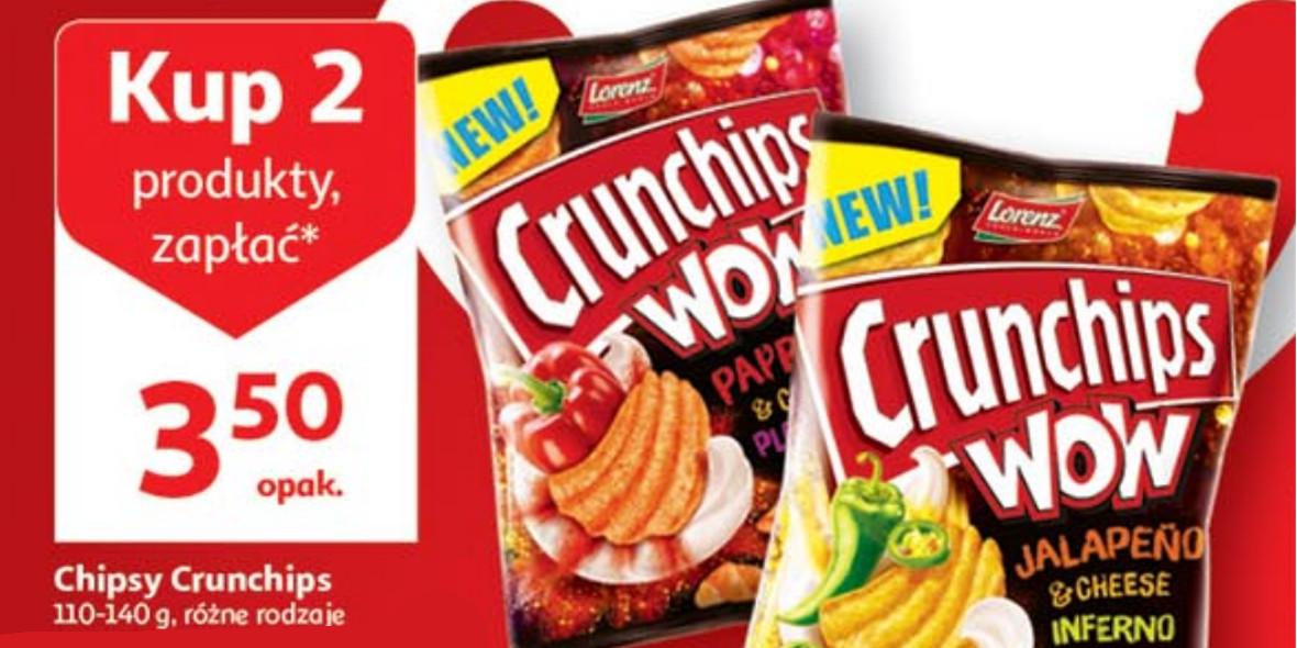 Auchan: 3,50 zł za chipsy Crunchips 13.06.2021