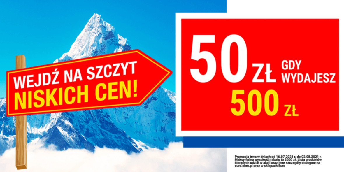 RTV EURO AGD: -50 zł za każde wydane 500 zł na AGD 19.07.2021