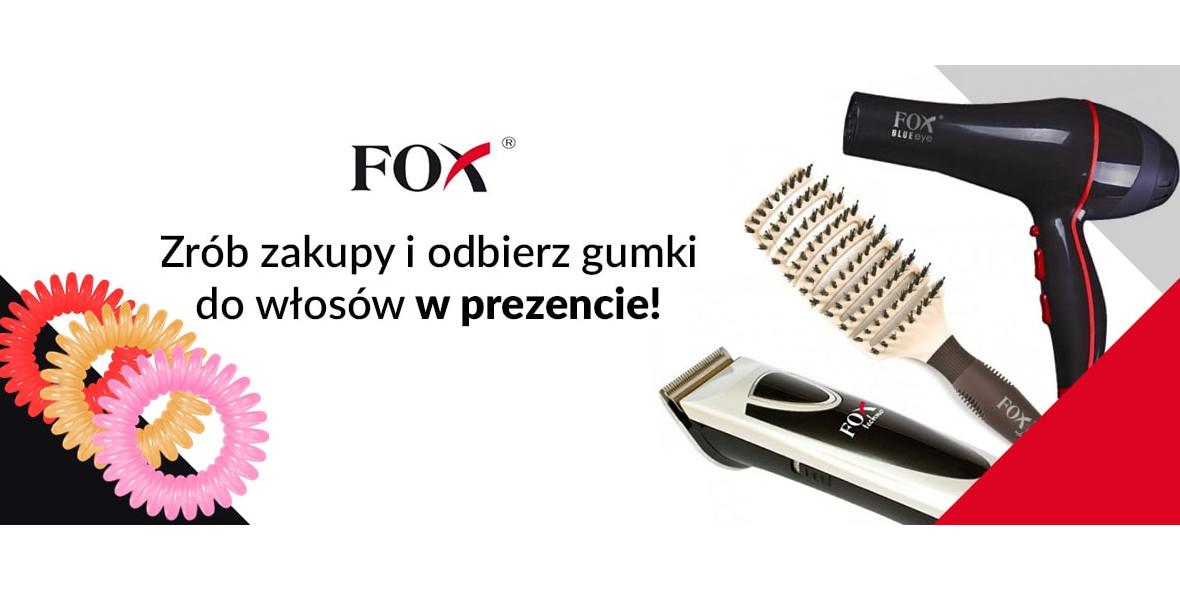 przy zakupie produktów marki FOX za min. 149 zł