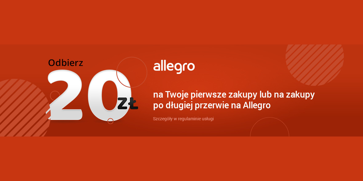 Allegro: Kupon -20 zł dla nowych lub powracających użytkowników 21.06.2021
