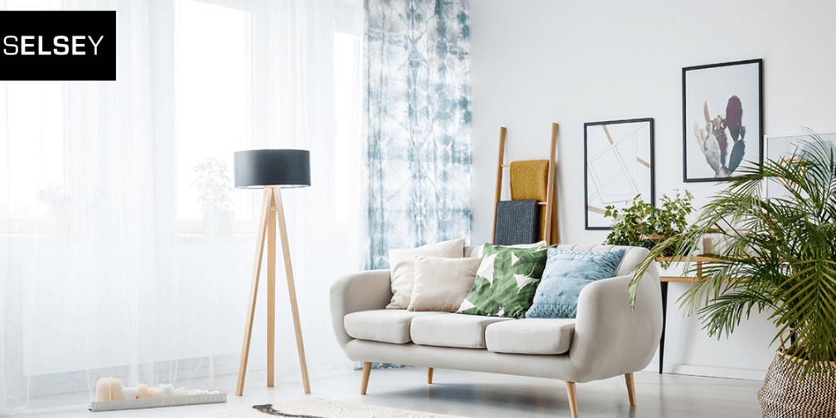 Selsey: -10% na dekoracje, dywany, zasłony