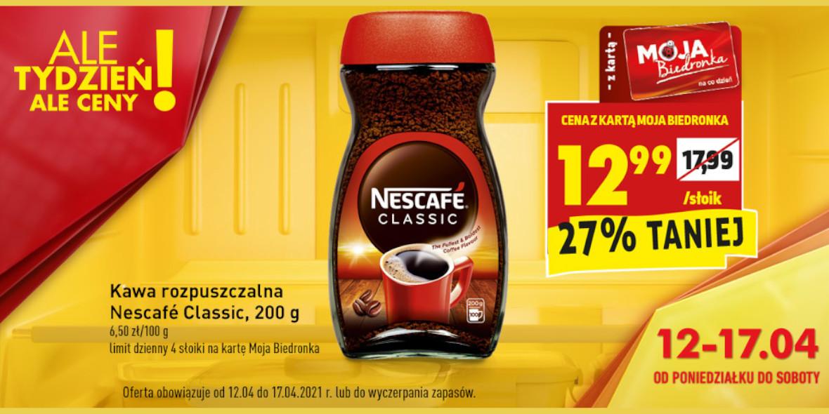 Biedronka: -27% na kawę Nescafe 12.04.2021