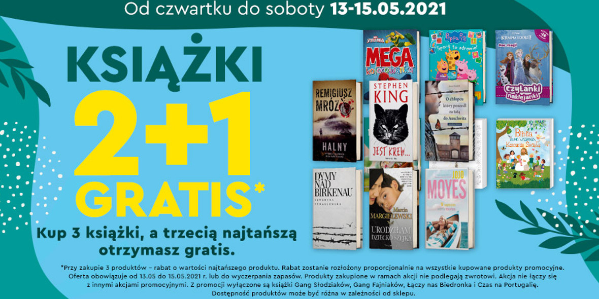 Biedronka:  2 + 1 na książki 13.05.2021