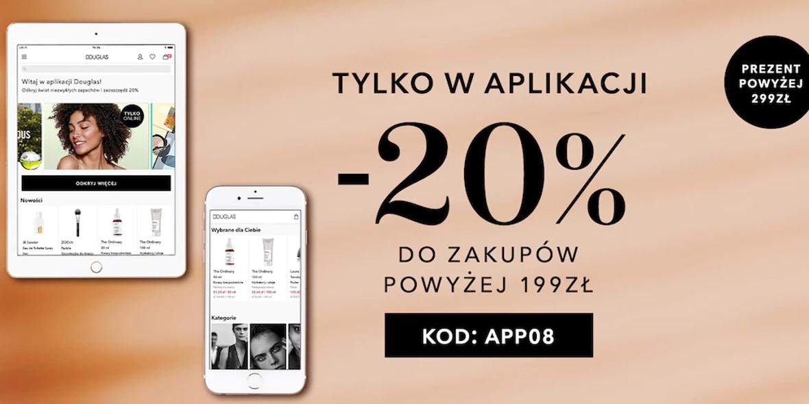 Douglas: Kod: -20% na zakupy w aplikacji Douglas 04.08.2021