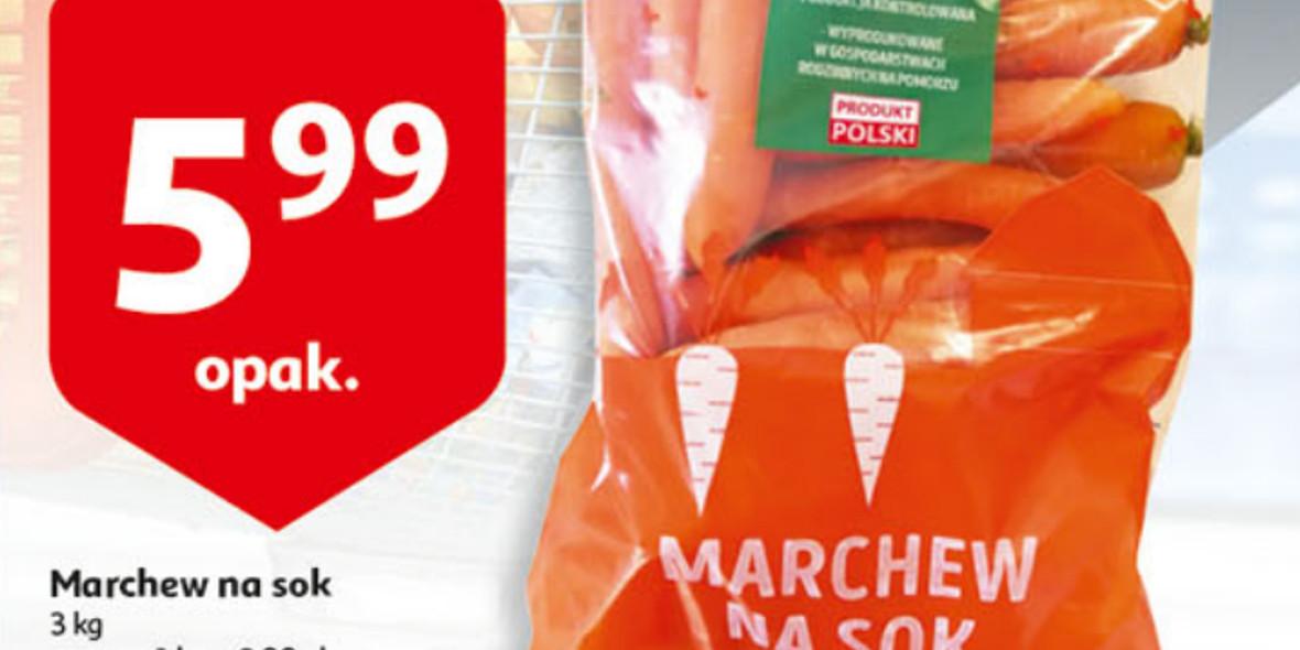 Auchan: 5,99 zł za marchew na sok 3 kg 17.09.2021