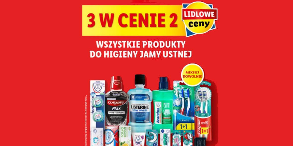Lidl: 3 w cenie 2 wszystkie produkty do higieny jamy ustnej 14.10.2021