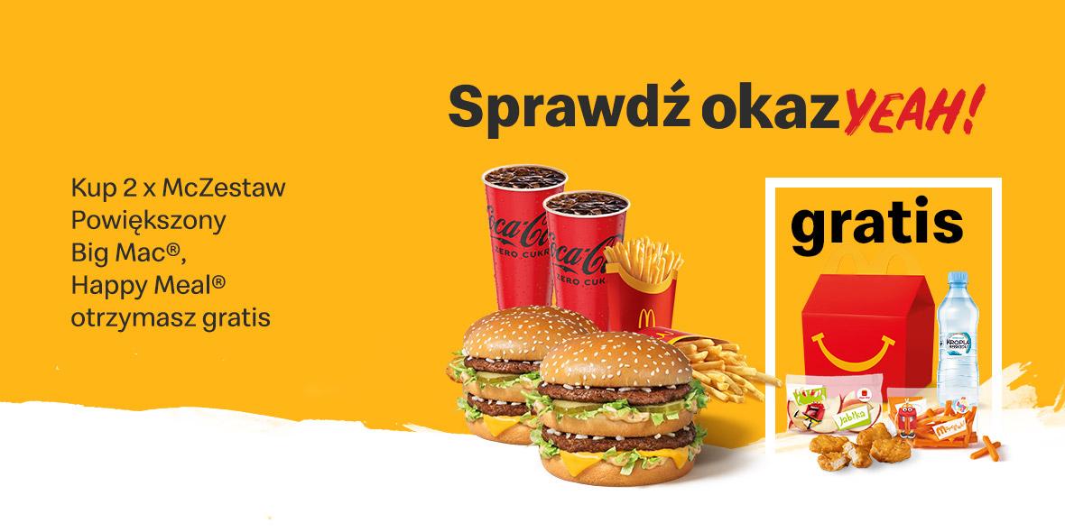 McDonald's:  Gratis Happy Meal® 18.10.2021