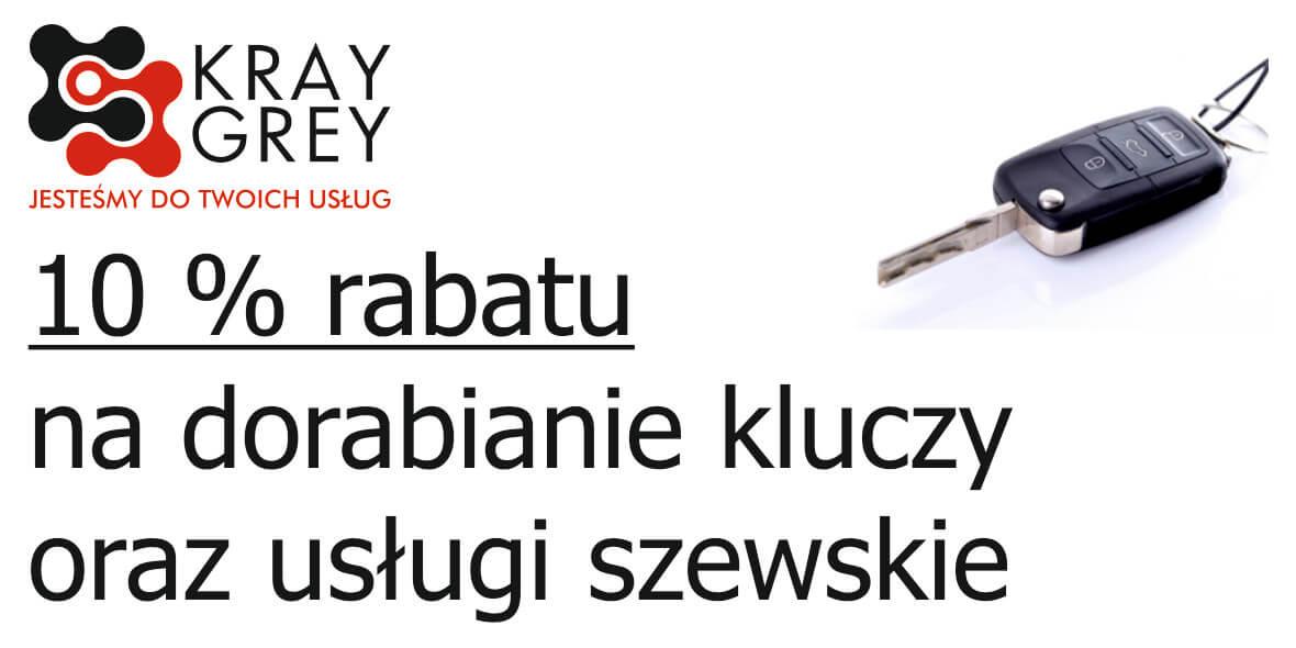 Kray Grey: -10% na dorabianie kluczy oraz usługi szewskie