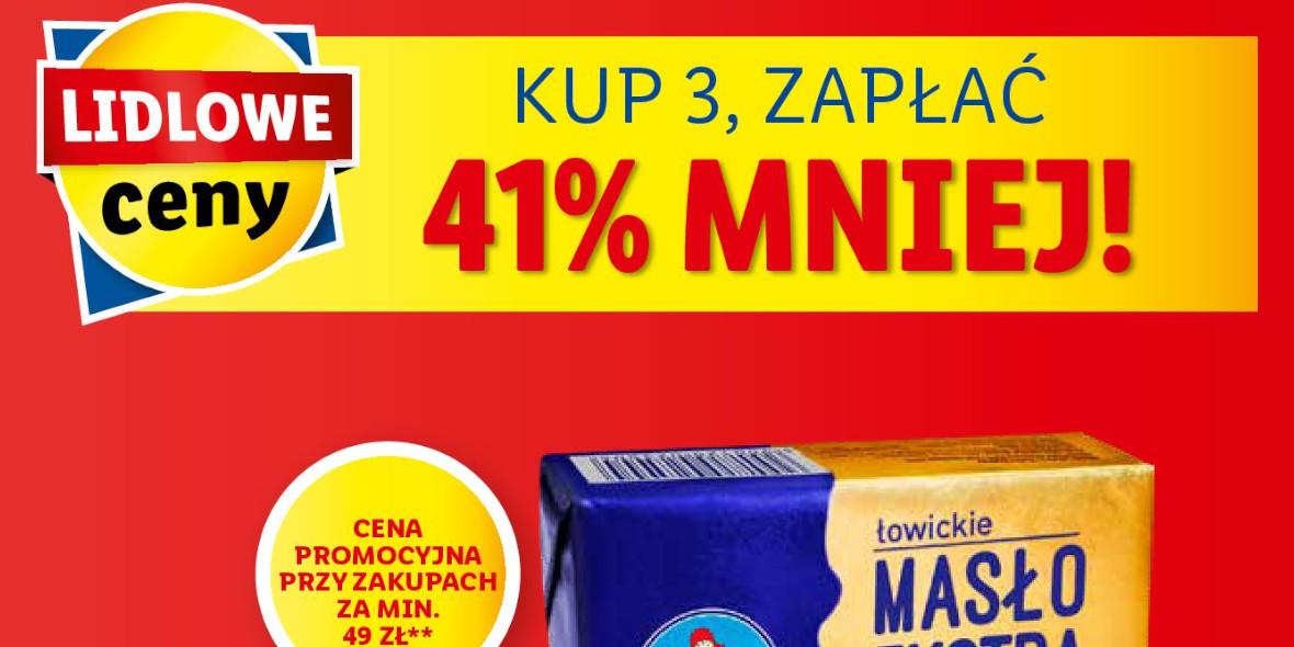 Lidl: -41% na masło ekstra 18.10.2021