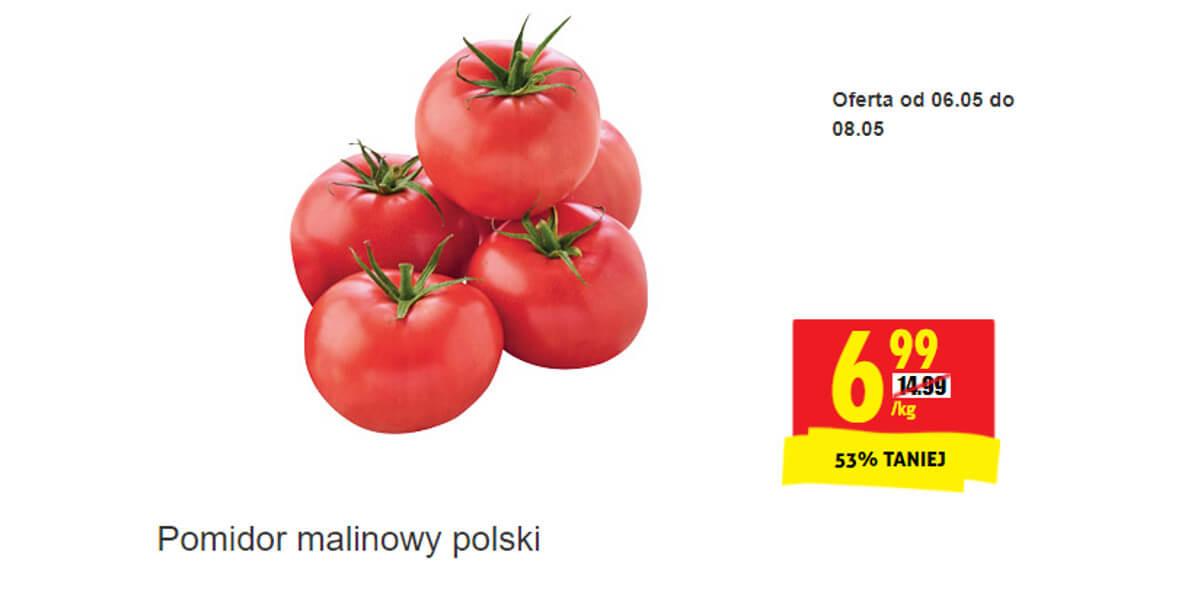 Biedronka: -53% na pomidory malinowe polskie 06.05.2021