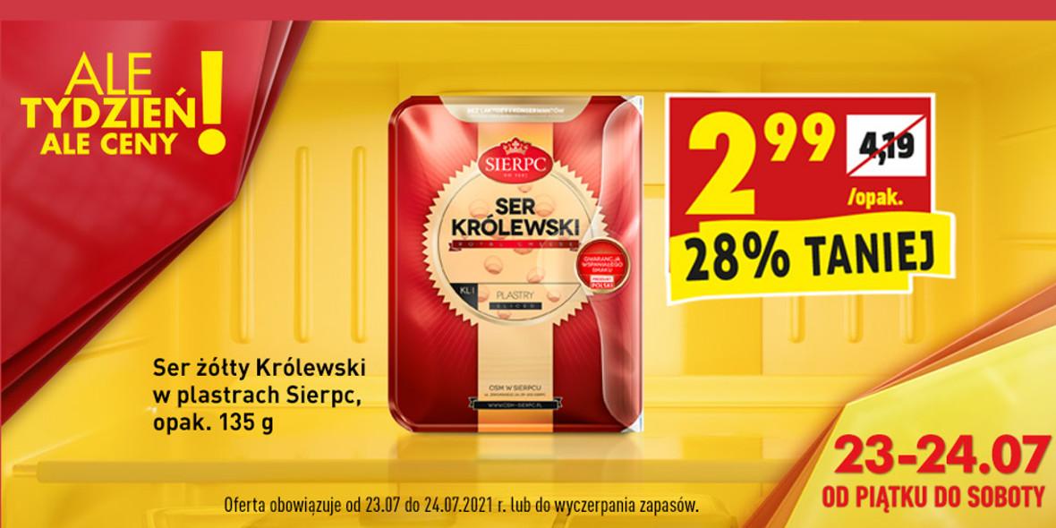Biedronka: -28% na ser żółty Królewski w plastrach 23.07.2021