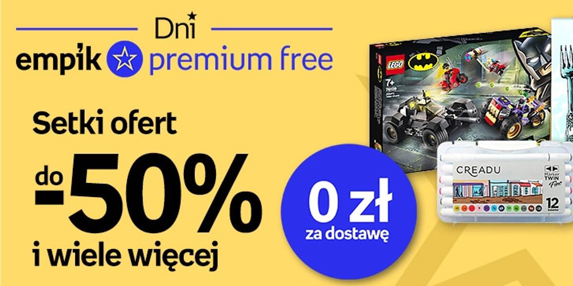 Empik: Do -50% i dostawa za 0 zł z empik premium free