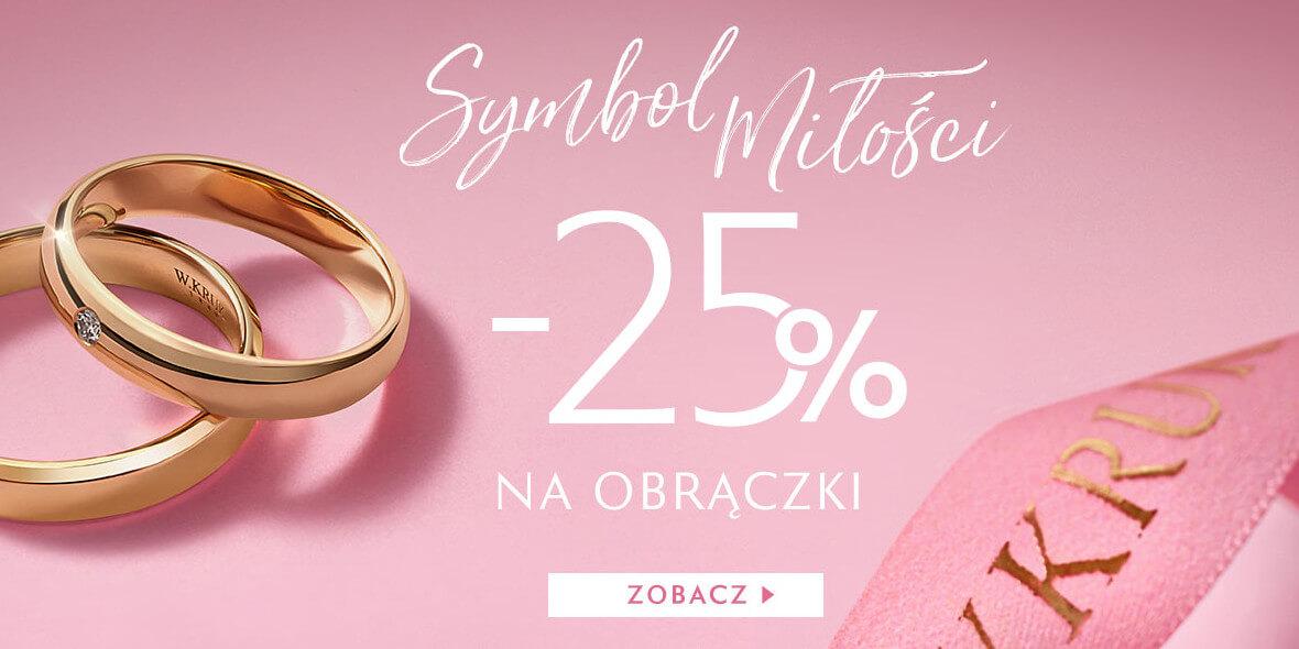 W. KRUK:  -25% na obrączki ślubne 05.05.2021