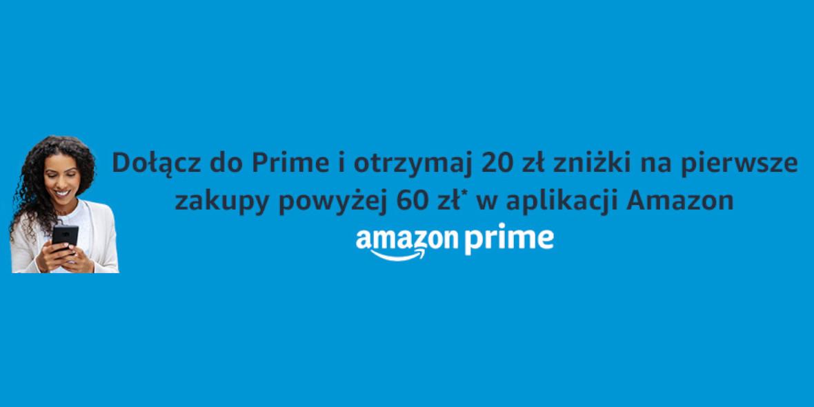 Amazon: Kod: -20 zł na pierwsze zakupy w aplikacji 18.10.2021