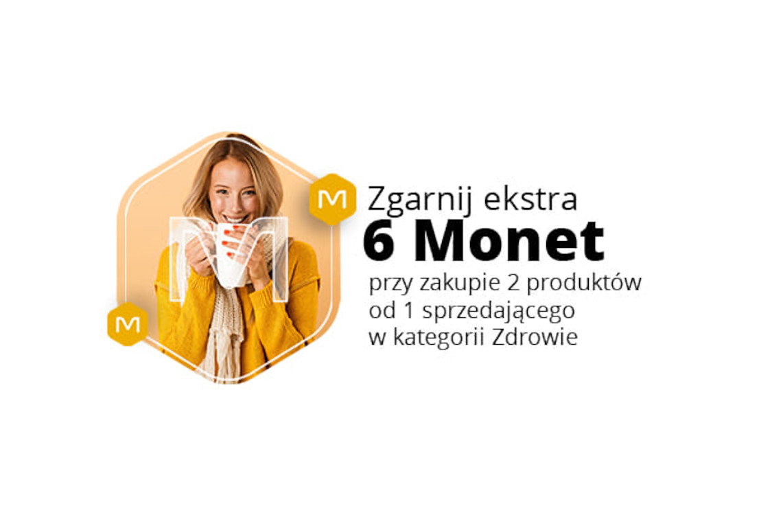 Allegro.pl: +6 Monet +6 Monet przy zakupie 2 produktów z kat. Zdrowie 26.01.2021