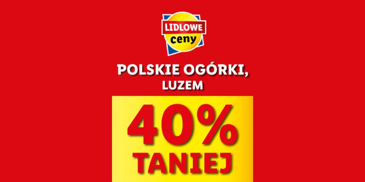 Lidl: -40% na polskie ogórki 10.05.2021