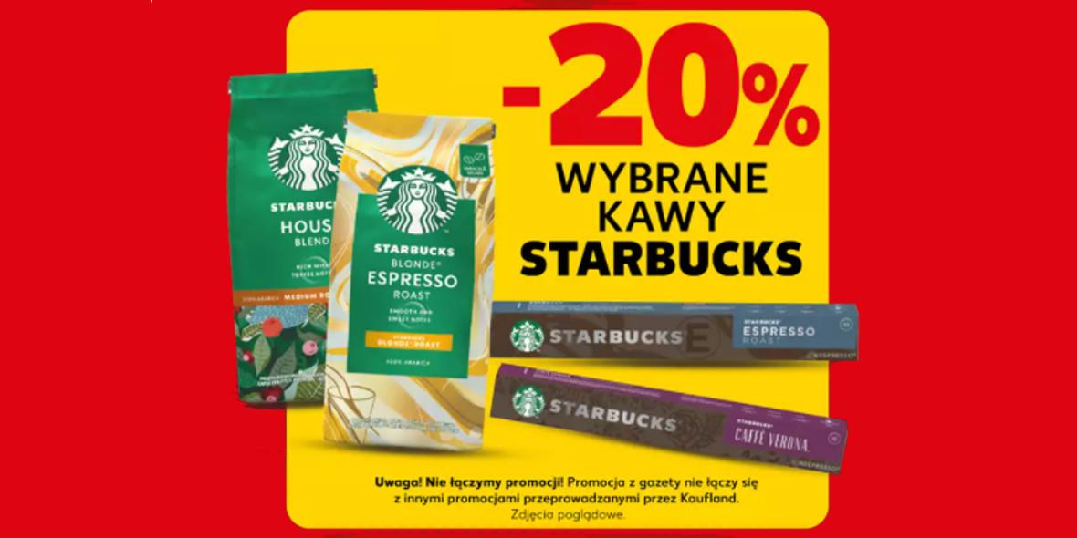 Kaufland: -20% na wybrane kawy Starbucks 21.10.2021