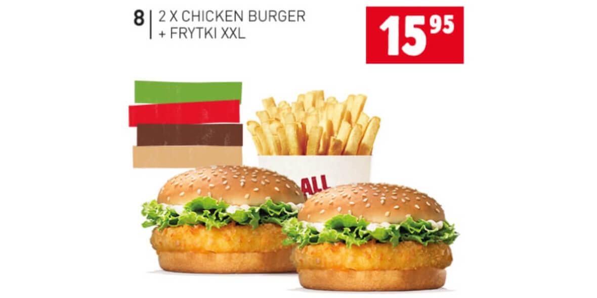 za 2x Chicken Burger + Frytki XXL