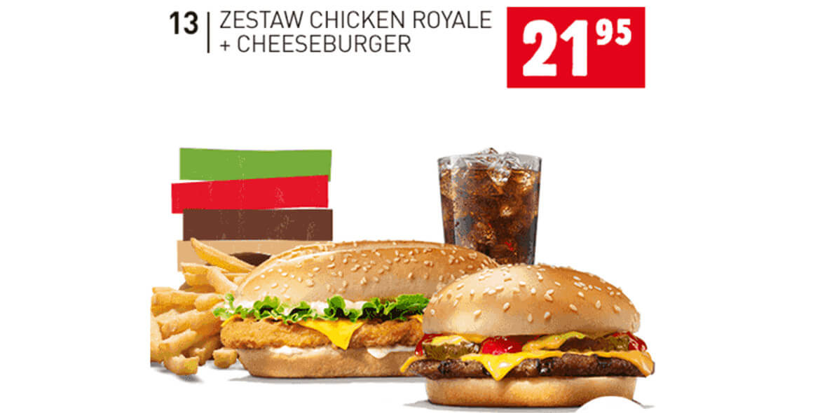 za zestaw Chicken Royale + Cheeseburger