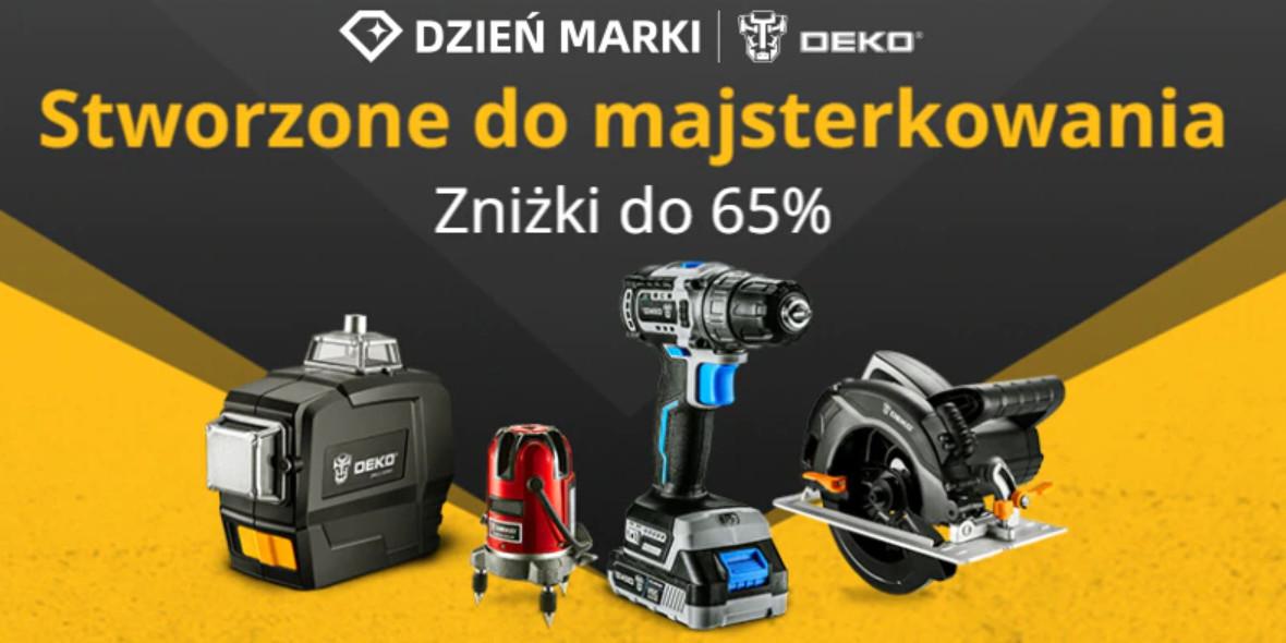 AliExpress: Do -65% na narzędzia marki DEKO 21.09.2021
