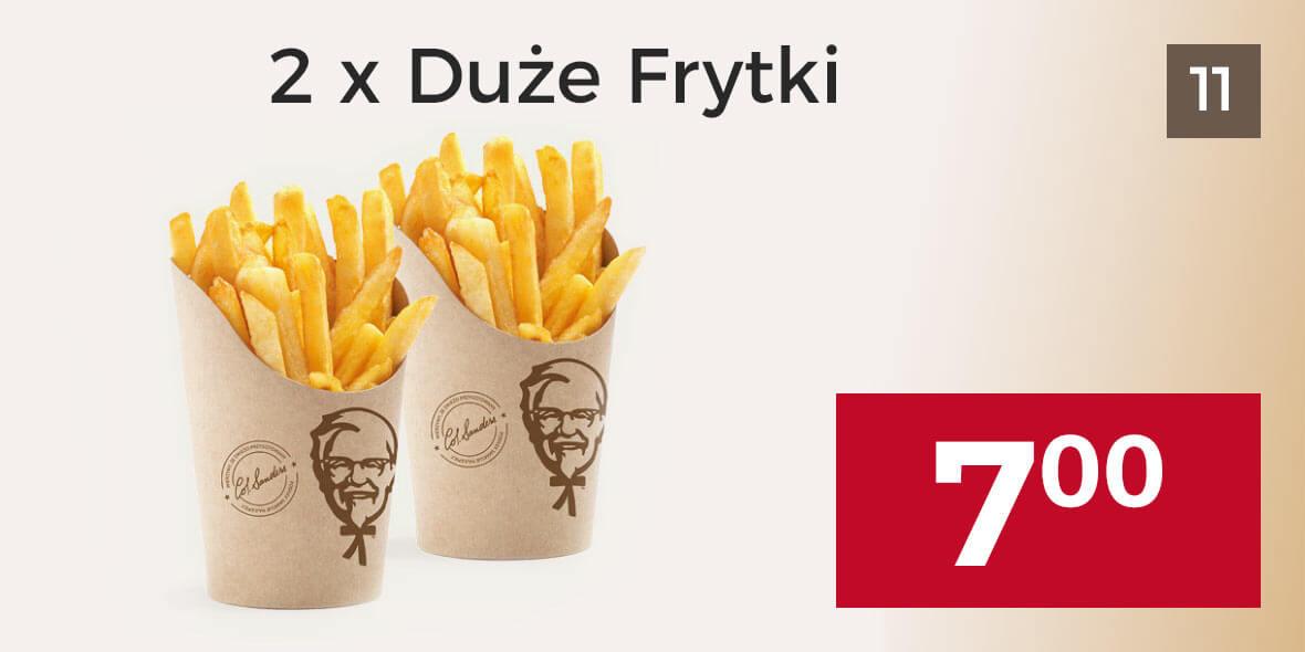 za  2 x Duże Frytki