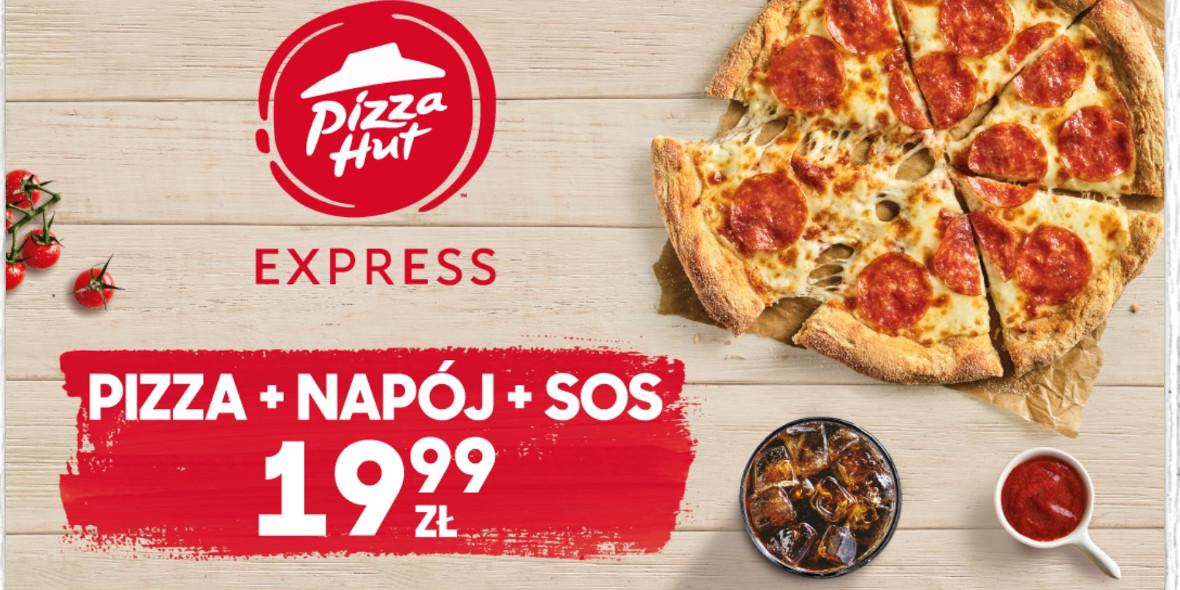 za pizzę + napój + sos