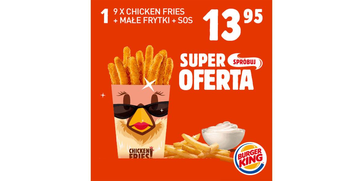 za 9x Chicken Fries + małe frytki + sos