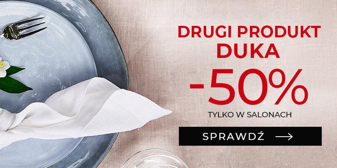 Duka: -50% na drugi produkt DUKA 03.08.2021