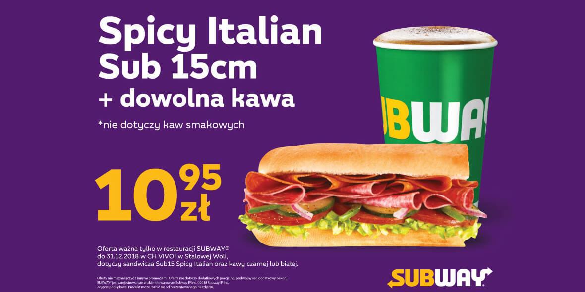 za Spicy Italian Sub 15 cm + kawa
