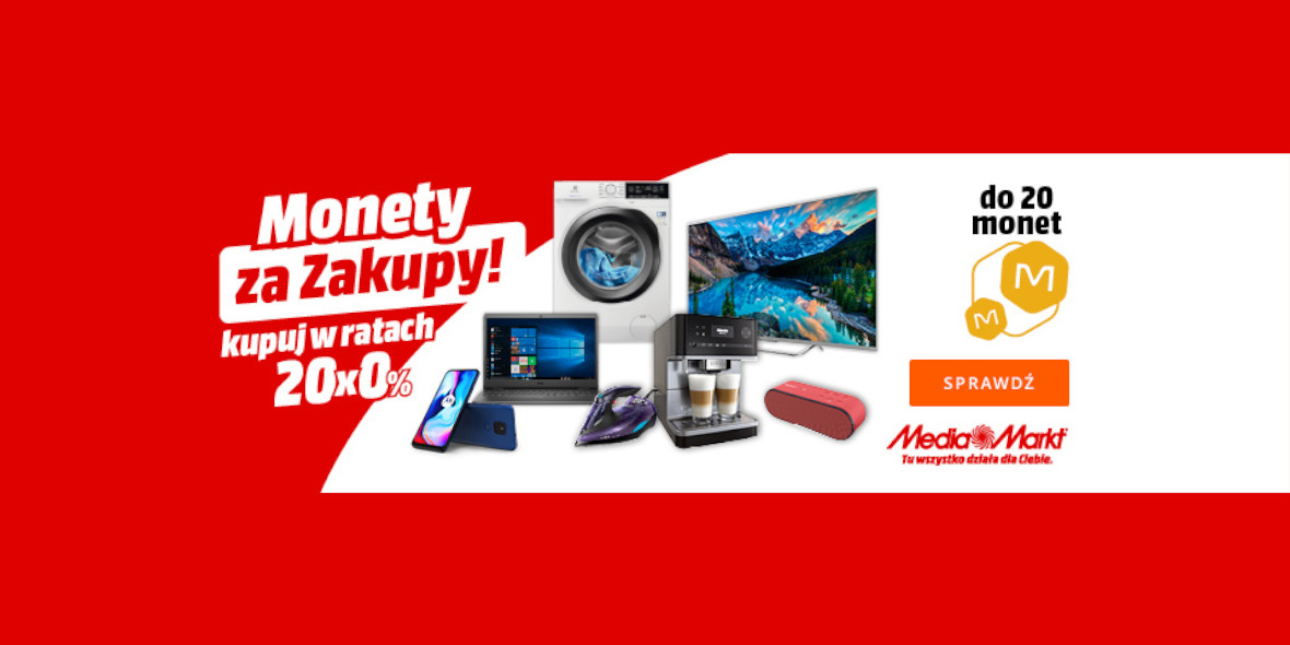 Allegro: Do 20 Monet za zakupy w oficjalnym sklepie Media Markt 17.09.2021