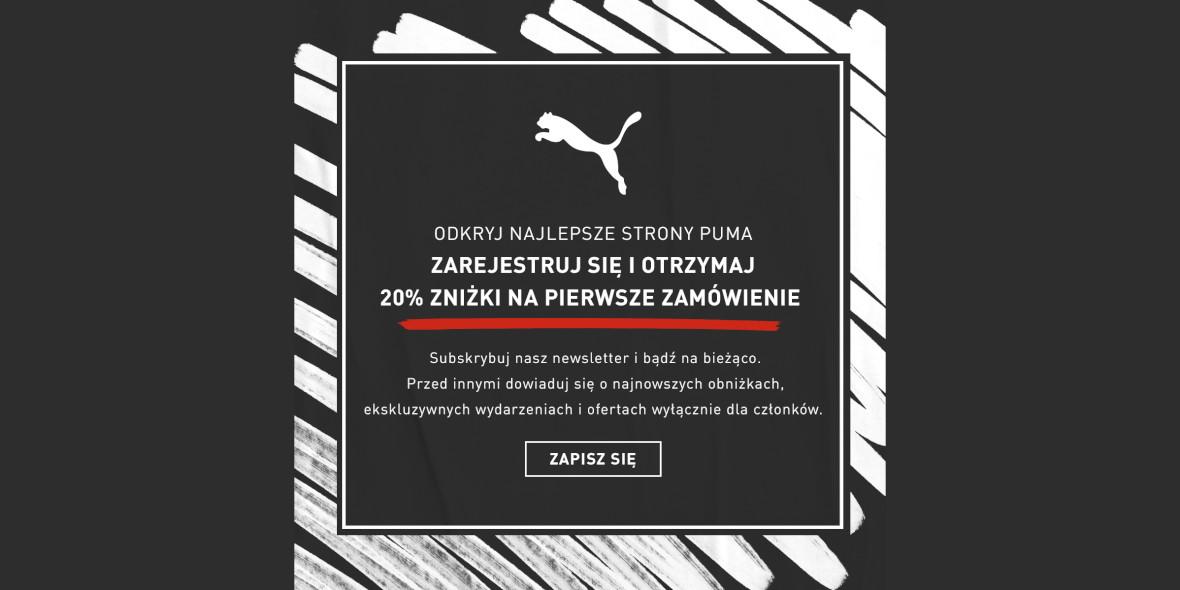 Puma: -20% na pierwsze zamówienie 04.10.2021
