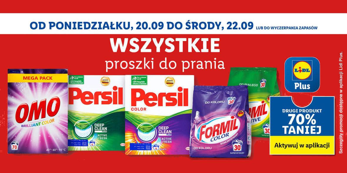Lidl: -70% na drugi proszek do prania 20.09.2021